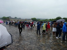 Queueing in the rain