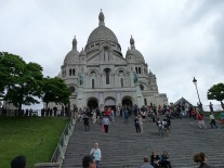 Climbing the last steps to Sacre Cour