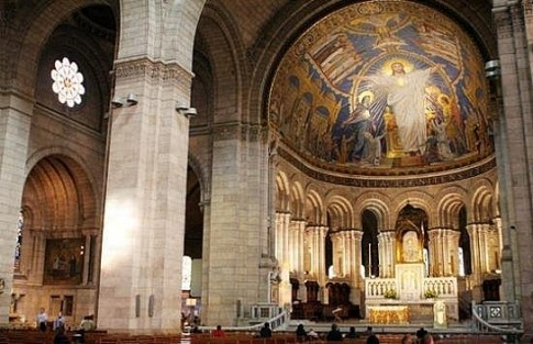 Inside Sacre Cour - not my picture