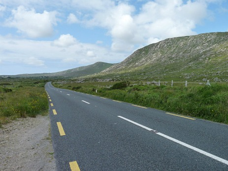 The road from Galway - rugged landscape