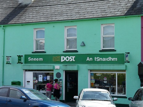 Post offices stand out - they're green