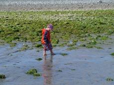 Enjoying Goose Spit beach