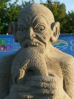 One of the finished Qualicum sand sculptures