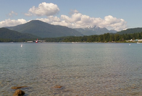 Sproat Lake complete with water bomber