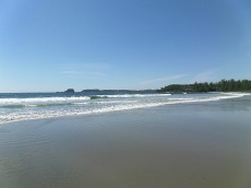 The beach at Tofino is nice, but cold!