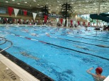 Canadian olympic swim team training session