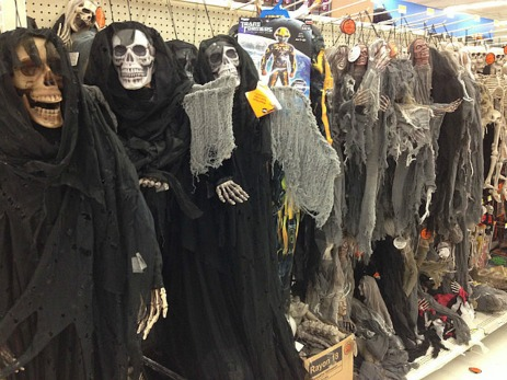 Some of the attractive selection of costumes at Walmart