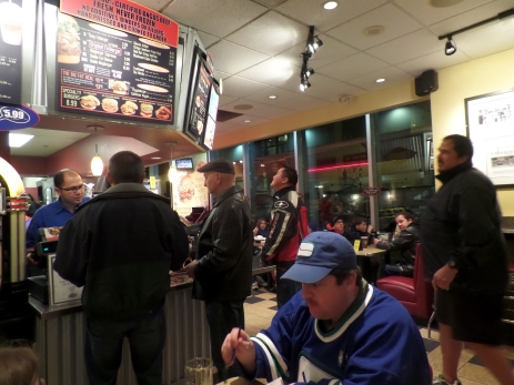 Pre-game meal at Fatburger