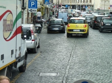 Rome - same streets, but different traffic