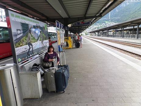 At Chur station ready to go
