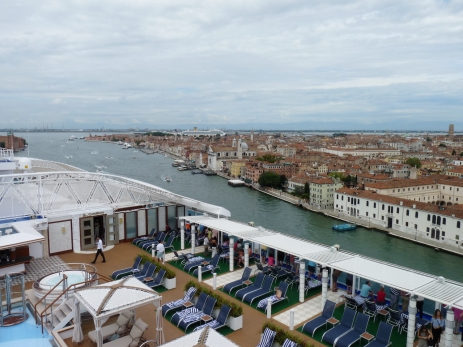 Our first view of Venice is from our cruise ship