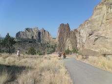Smith Rock is popular with hikers