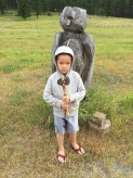 Every kid needs his own stone axe
