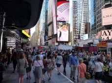 Everyone is busy in Times Square