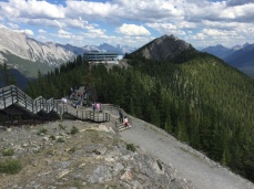 The walk from the top of the Sulphur Mountain gondola is taxing
