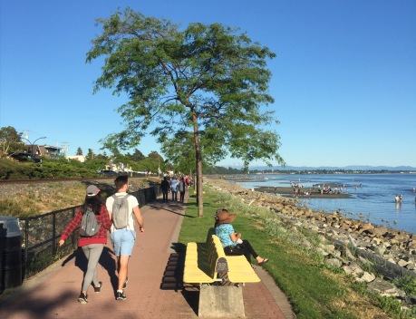 Now for the White Rock promenade
