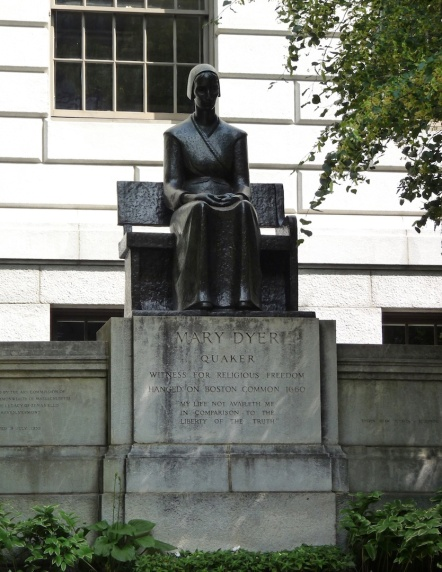 Mary Dyer - hanged at the common for her faith