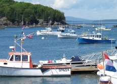 Bar harbour - lobster boats
