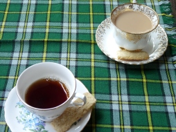 A nice cup of tea with oatcakes at the end of our tour
