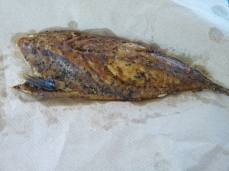 Wonda treated us to big fillets of smoked fish - smelled and tasted - fishy