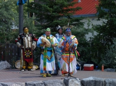 Back in town, the Blackfoot people are showing their culture