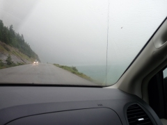 Raining again on the way to the lake