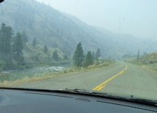 But Highway 8 has character - in the smoke