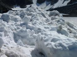 Plenty of old snow around