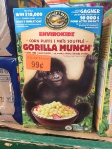 Envirokids eat baby gorillas?